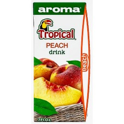 TROPICAL OV. NÁPOJ s brčkem 200ml - BROSKEV