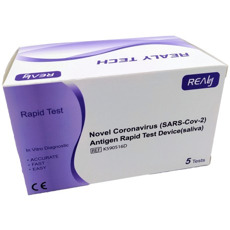 RealyTech 1Ks - Novel Coronavirus (SARS-CoV-2) Antigen Rapid Test Device (saliva)